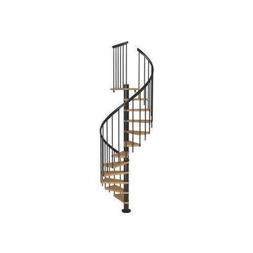 Schody spiralne z dodatkowymi tralkami calgary antracyt śr. 120 cm marki Dolle