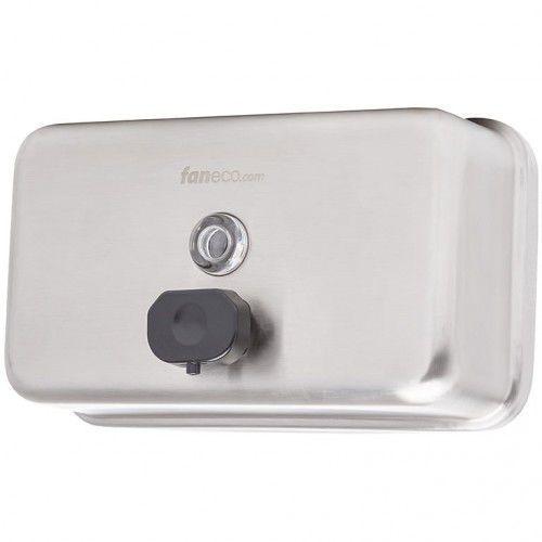 Dozownik do mydła w płynie poziomy 1 litr TOP H Faneco stal szlachetna matowa, S1000SPH