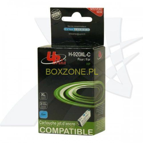 Uprint  kompatybilny ink z cd972ae, hp 920xl, cyan, 12ml, h-920xlc, dla hp officejet