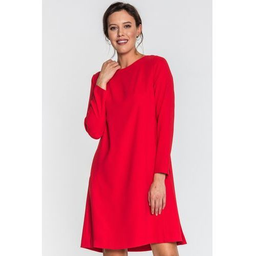 Prosta sukienka czerwona - SU