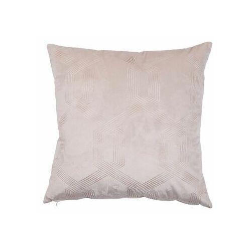 Poduszka cassian różowa 45 x 45 cm marki Inspire