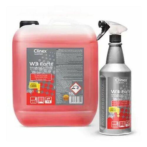 Clinex W3 forte 1l - gotowy do użycia, silny preparat do mycia sanitariatów i łazienek