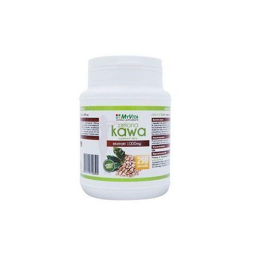 Kapsułki MYVITA Zielona Kawa 250 kaps. / 1000mg [przecena -55%]