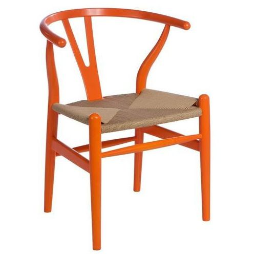 Krzesło Wicker Color inspirowane Wishbone - pomarańczowy, d2-5367