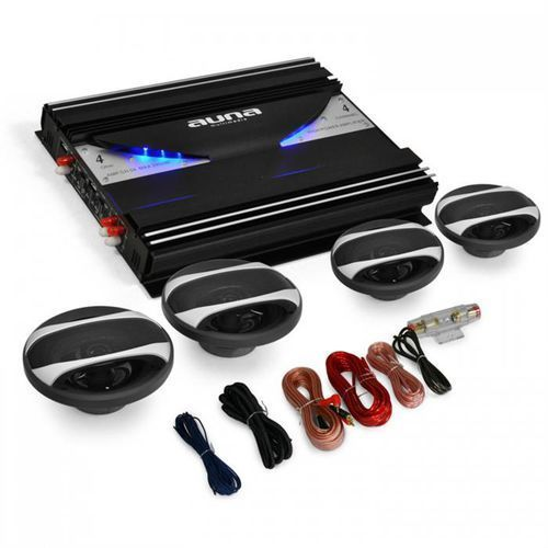 """Elektronik-star Auna 4.0 auto hifi set """"black line 420"""" wzmacniacz głośniki"""