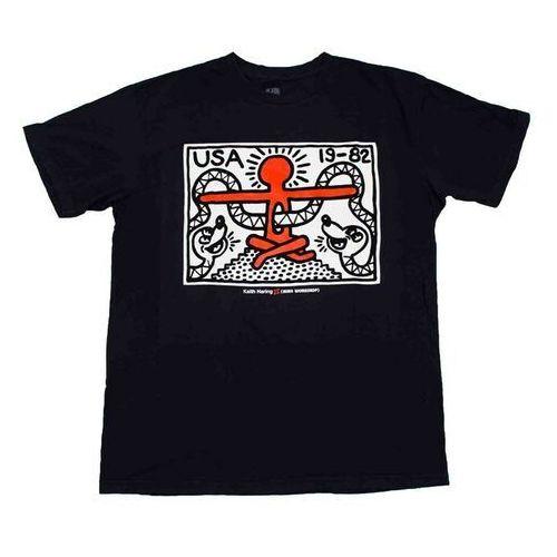 koszulka ALIEN WORKSHOP - Haring Snaked Black (CERNA), kolor czarny