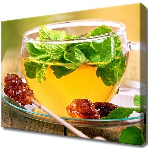 Obraz na ścianę herbatka miętowa cukier trzcinowy marki Cenodi