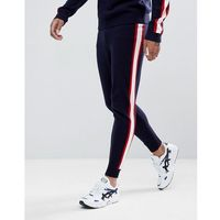 ASOS Knitted Co-ord Joggers With Side Stripe In Navy - Navy, 1 rozmiar