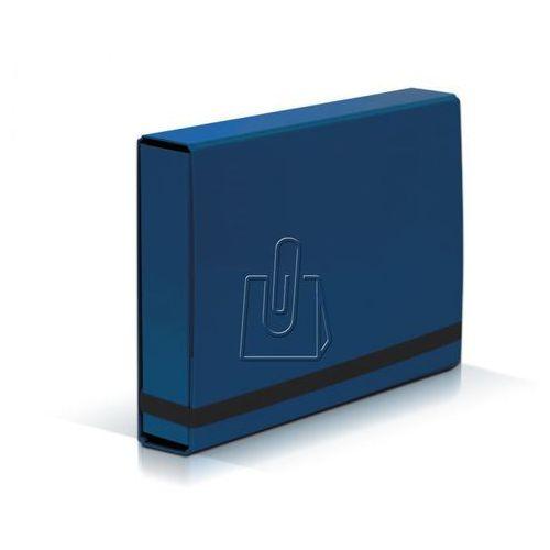Teczka szeroka VAUPE BOX 341 5cm z gumką - nieb. (5904287341038)