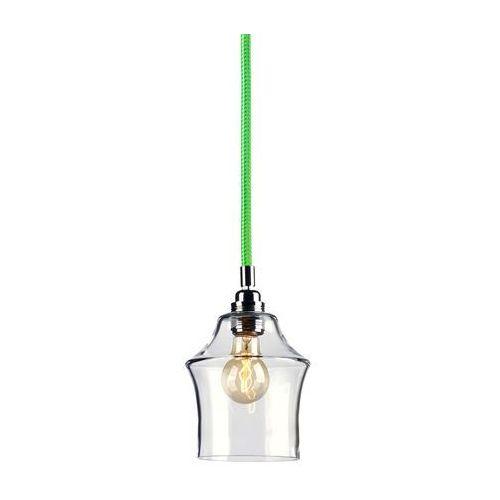 Kaspa Lampa wisząca frame m 10337101 szklana oprawa kropla łezka retro zwis klatka drut biały zielony (5902047301650)