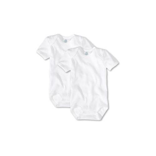 Sanetta baby body z krótkim rękawem kolor biały 2 sztuki (4050399666321)