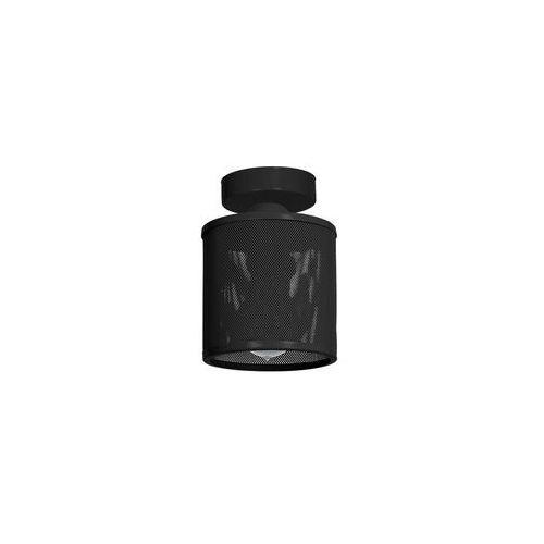 Natynkowa LAMPA sufitowa LOUISE MLP 666 Milagro metalowa OPRAWA plafon siatka czarna, MLP 666