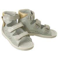 Bartek 81803 37x srebrno-złoty, obuwie profilaktyczne dziecięce, roxzmiary 20-26 - srebrny