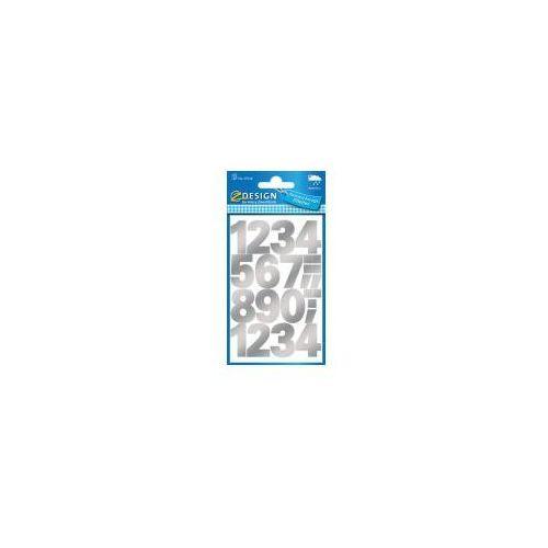 Naklejki odporne na pogodę - numery srebrne (4004182591260)