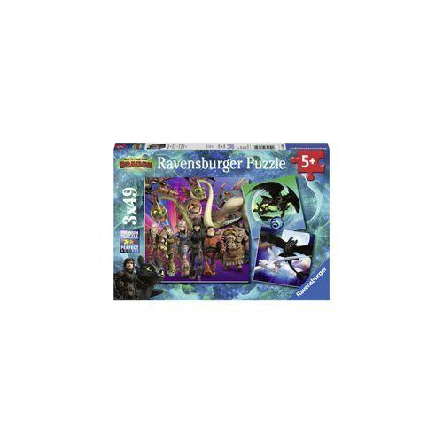 Puzzle jak wytresować smoka 3x49 2y36fk marki Ravensburger