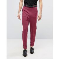 ASOS Super Skinny High Waist Trousers in Pink Dogtooth Design - Pink