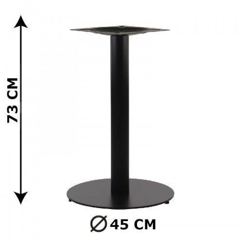 Podstawa stolika SH-5001-5/B, fi 45 cm, wysokość 73 cm (stelaż stolika), kolor czarny (5903917403276)
