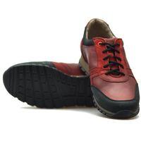 Półbuty Lesta 212-4214-2-51485039 Bordowe lico, kolor czerwony