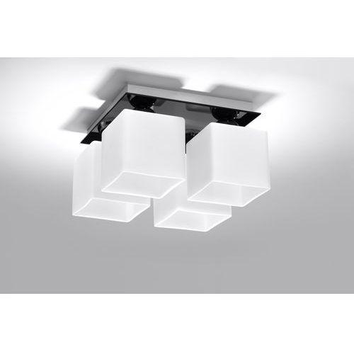 Sollux lighting Plafon piazza 4 czarny + darmowy transport!