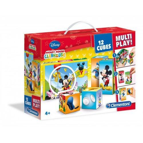 Klocki Cubes Multiplay Mickey Mouse Club House
