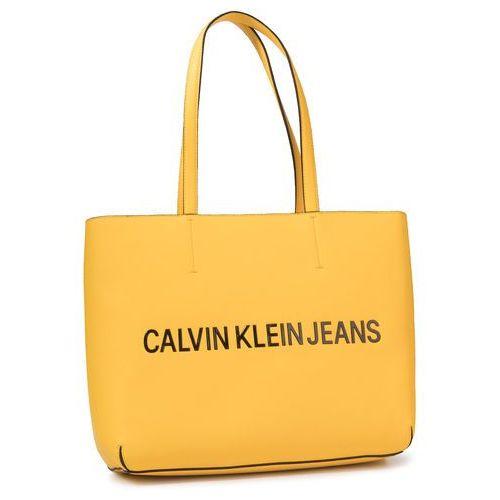 Torebka - sculpted ew tote k60k605790 lemon chrome marki Calvin klein jeans