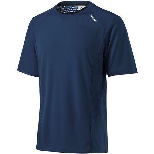 Head koszulka sportowa Performance Crew Shirt M Navy XXL, kolor niebieski