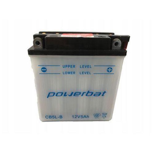 Akumulator motocyklowy power cb5l-b / yb5l-b 12v 5ah 65a p+ marki Bat