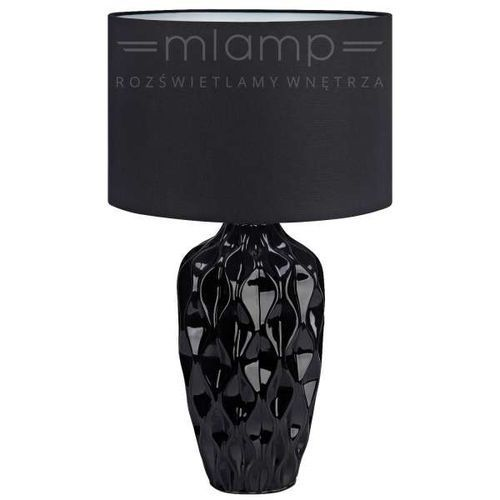 Ceramiczna LAMPKA biurkowa ANGELA 106891 Markslojd abażurowa LAMPA stołowa czarna