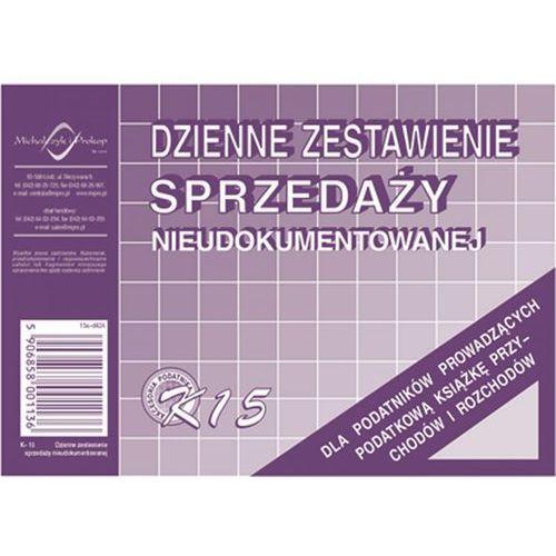Dzienne zestawienie sprzed. nieudok. Michalczyk&Prokop K15 - A6