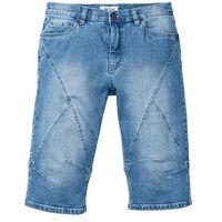 "Długie bermudy dżinsowe ze stretchem regular fit niebieski ""medium bleached marki Bonprix"