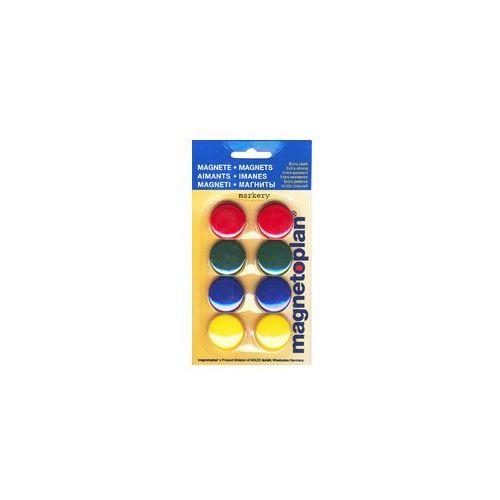 Magnetoplan Magnesy mix kolorów 30 mm 8szt blister (4013695028361)