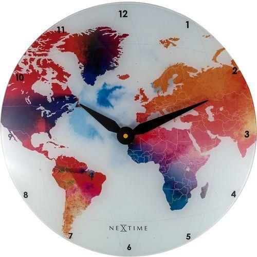 Nextime Zegar ścienny colorful world 43 cm (8187) (8717713021827)