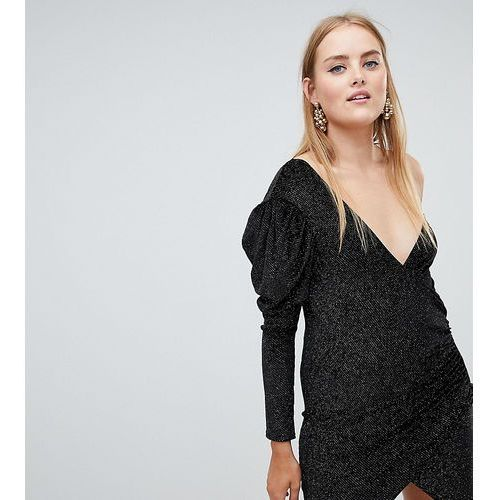 one shoulder wrap mini dress - multi marki Boohoo
