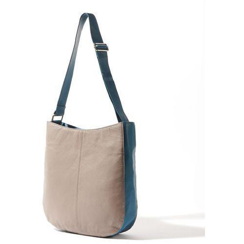 Skórzana torebka, kolor szary