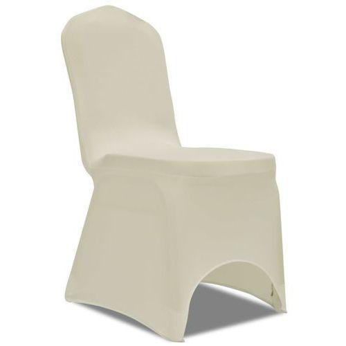 Naciągany pokrowiec na krzesło - kremowy - 50 szt., kolor beżowy