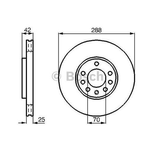 tarcza hamulcowa; przednia, 0 986 478 588 marki Bosch