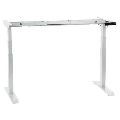 Dwusilnikowy stelaż metalowy biurka (stołu) z elektryczną regulacją wysokości, elektryczny, UT04-3T/W, kolor biały - noga 3-segmentowa (5903917403634)
