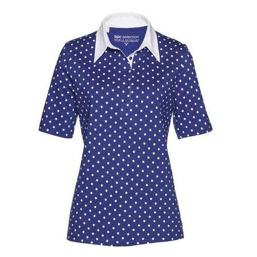 Shirt polo szafirowo-biały marki Bonprix