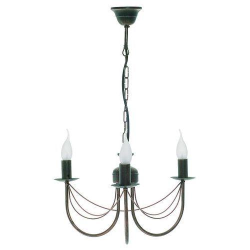Nowodvorski Lampa wisząca wioletta iii 1352 zwis 3x60w e14 antyczny brąz (5903139135290)