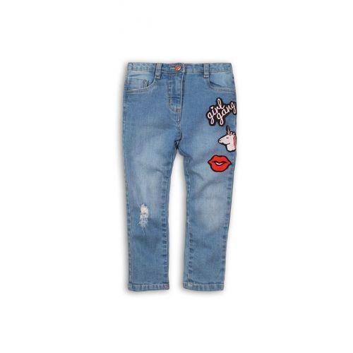 Minoti Spodnie dziewczęce jeansowe 3l34a5