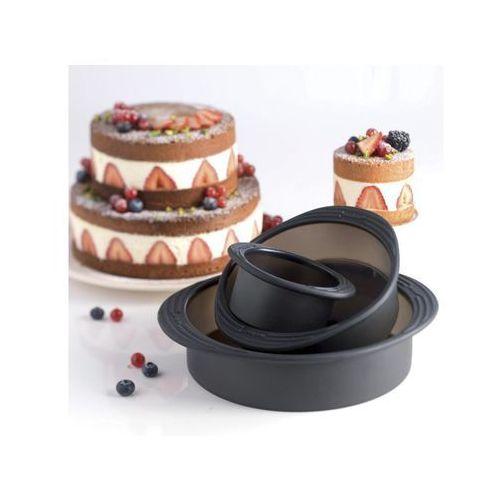 Mastrad Formy do ciasta okrągłe silikonowe 3 szt.