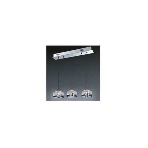 Italux Lampa wisząca cubric md9216-3a halogenowa oprawa szklana zwis listwa sufitowa kostki box cube białe przezroczyste (5900644342380)