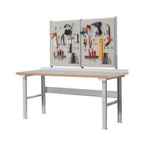 Stół roboczy solid 500, z wyposażeniem, 2000x800 mm, winyl marki Aj produkty