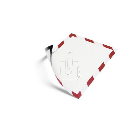 Ramka duraframe magnetic security  a4 czerwono-biała 5 sztuk 4945-132, marki Durable