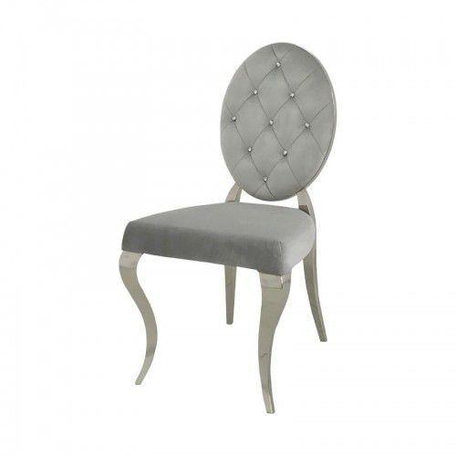 Krzesło glamour leonardo silver - nowoczesne krzesła pikowane kryształkami marki Bellacasa