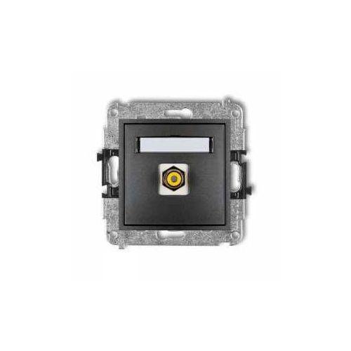 Karlik Gniazdo rca mini 11mgrca-1 pojedyncze (typu cinch - żółty pozłacany) grafitowy
