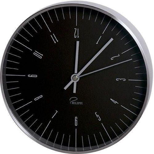 Philippi Zegar ścienny czarny 20 cm (4037846143673)