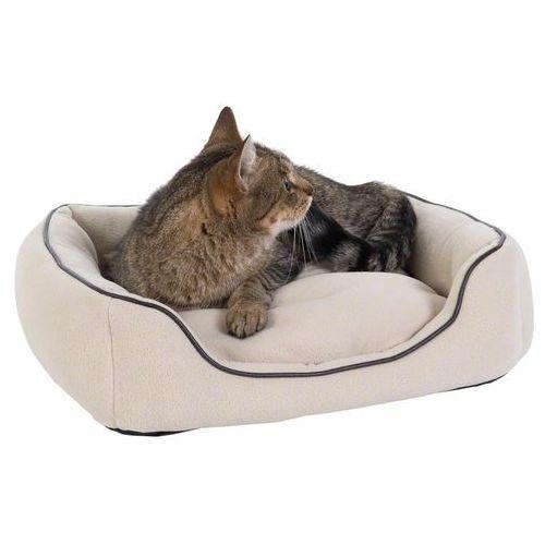 Legowisko dla kota vanilla, beżowe - dł. x szer. x wys.: 50 x 45 x 12 cm marki Zooplus exclusive