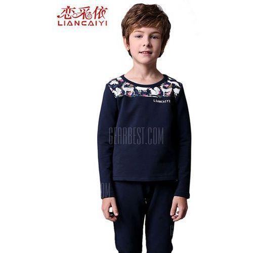 Gearbest Liancaiyi long sleeve printed boy suit, kategoria: bluzki dla dzieci