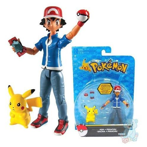 ASH + PIKACHU ruchome figurki Pokemon TOMY